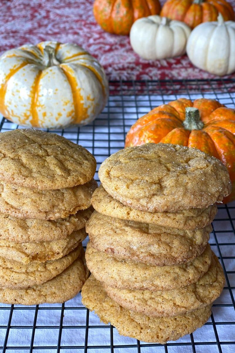 stacks of pumpkin snickerdoodles
