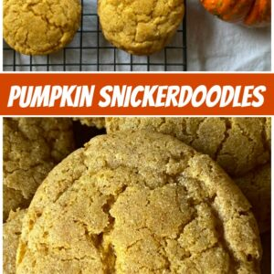 pinterest collage image for pumpkin snickerdoodles