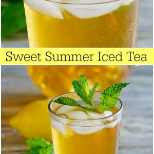 pinterest collage image for sweet summer iced tea