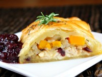 Turkey Cranberry Strudel