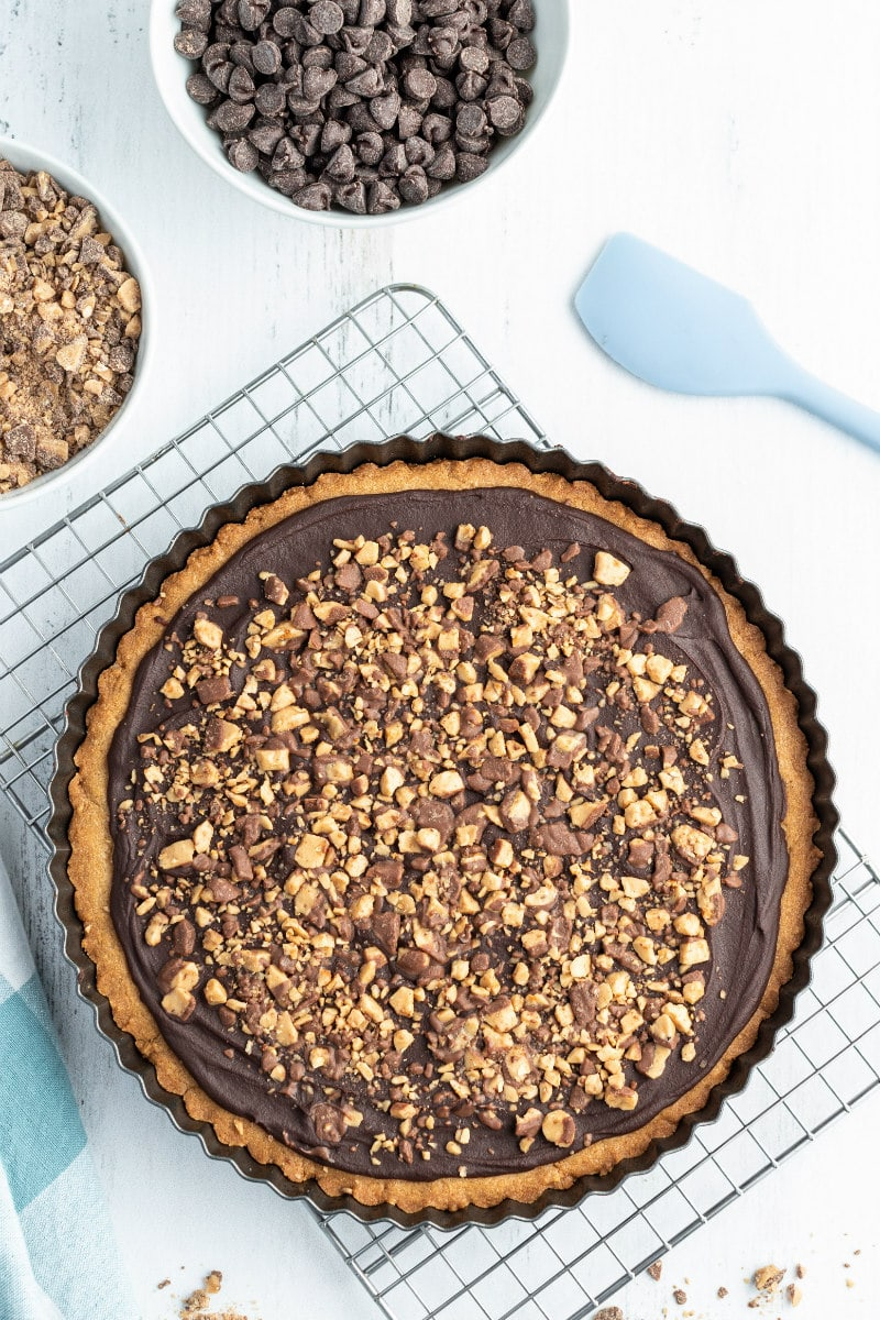chocolate toffee baked in one big round