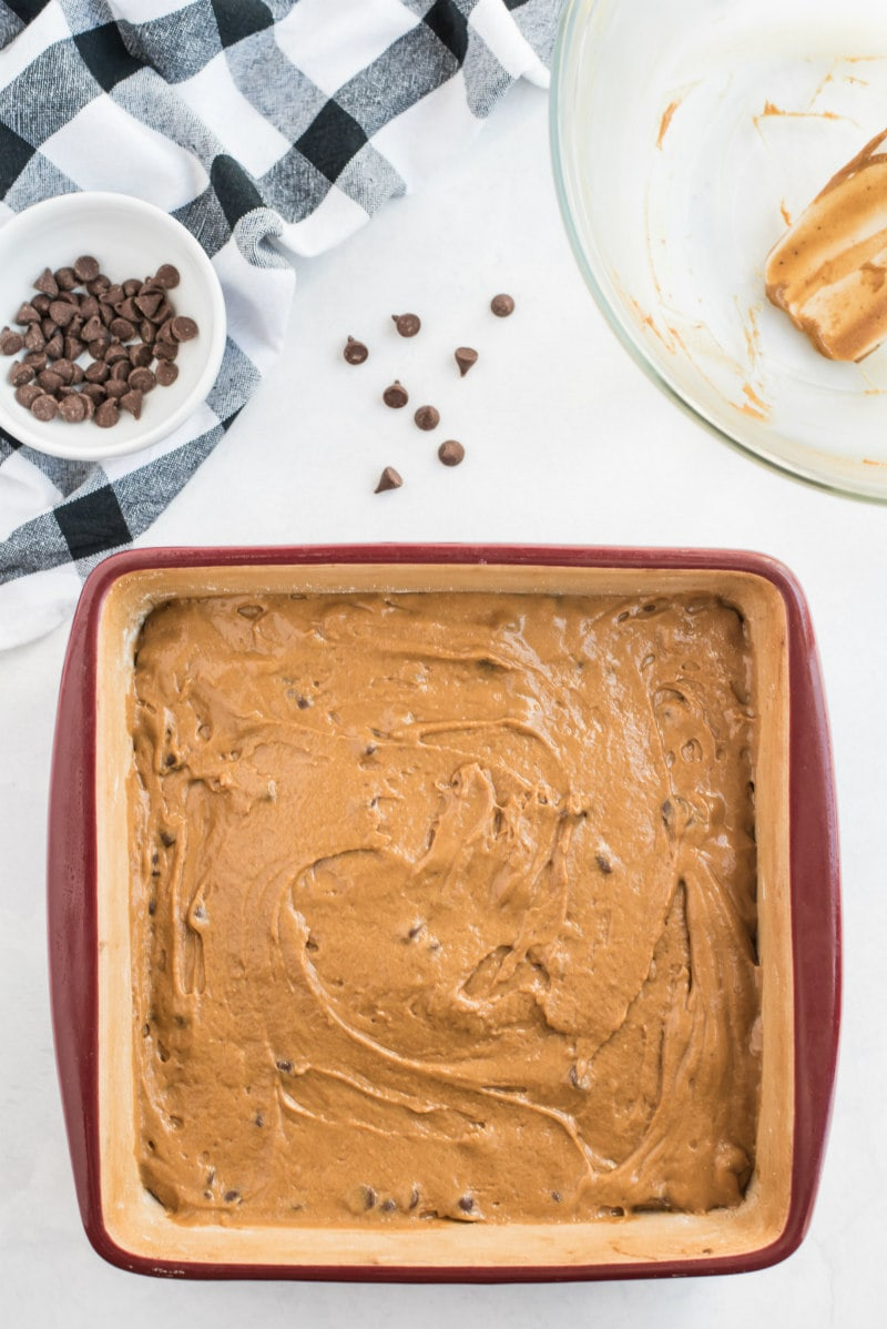 batter for gingerbread bars in square pan