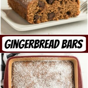 pinterest collage image for gingerbread bars