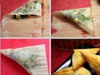 Spinach Feta Phyllo Triangles