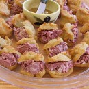 Beer Puffs with Corned Beef Filling