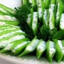 Crab and Cream Cheese Stuffed Snow Peas Pic