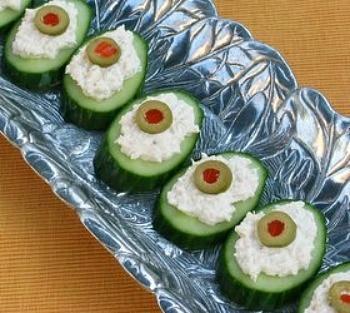 Crab Meat Cucumber Appetizer