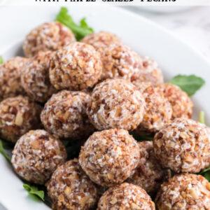 pinterest image for goat cheese truffles
