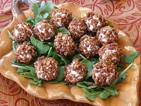 Goat Cheese Truffles with Maple Spiced Pecans