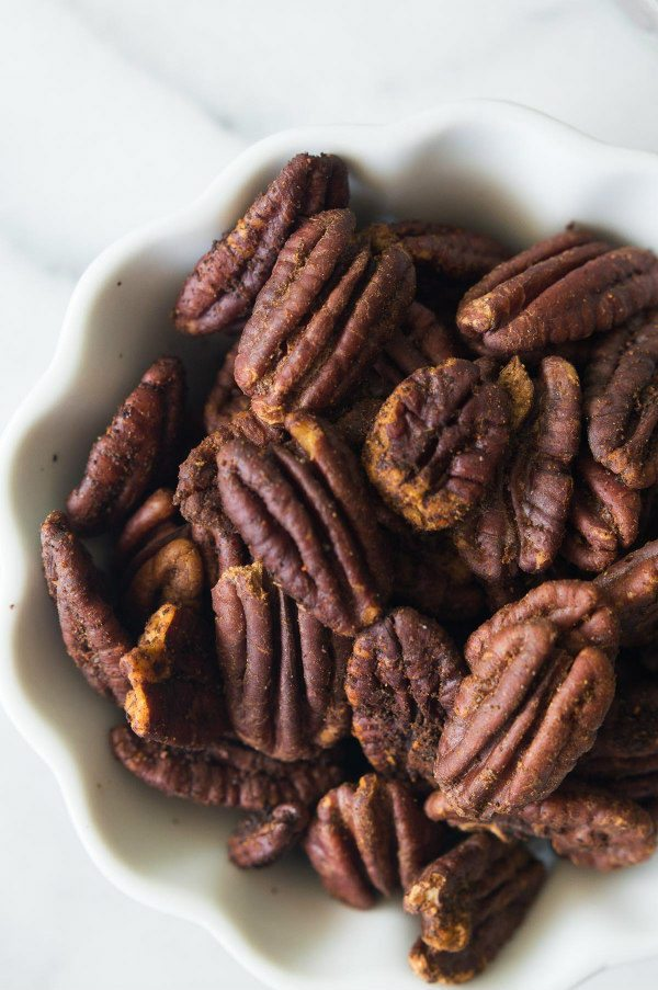 Hot and Spicy Pecans Recipe - from RecipeGirl.com