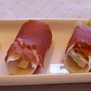 Prosciutto Wrapped Endive Stuffed with Blue Cheese and Pear
