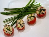 Salmon Stuffed Cherry Tomatoes
