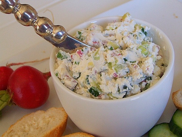 Vegetable Goat Cheese Spread