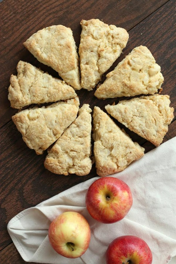 Apple Cream Scones Recipe - RecipeGirl.com