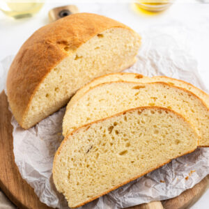 pinterest image for cheese and wine bread