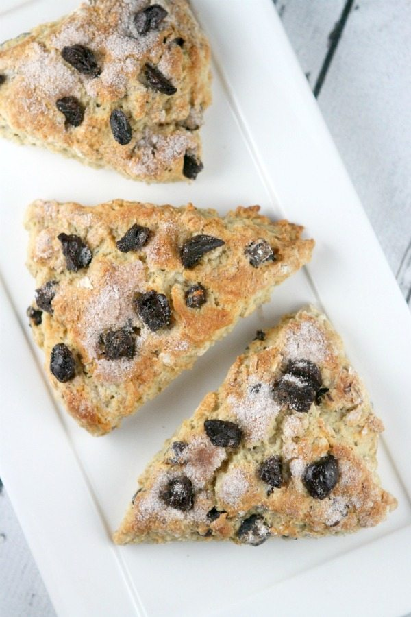 Cherry Oat Scones