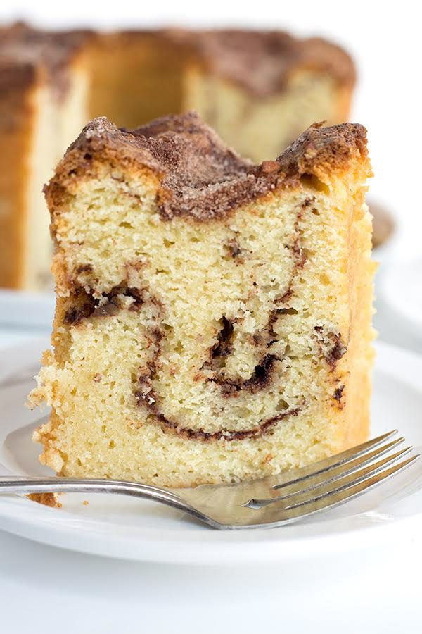 Slice of Cinnamon Morning Cake