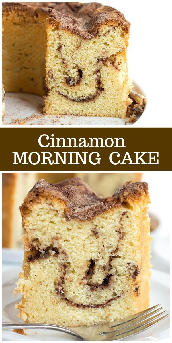 Cinnamon Morning Cake: a great coffee cake recipe from RecipeGirl.com #cinnamon #cake #coffee #recipe #RecipeGirl