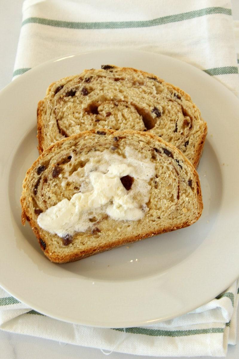 Buttered Cinnamon Oatmeal Bread