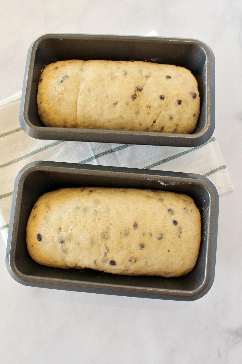 Rising dough for Cinnamon Oatmeal Bread