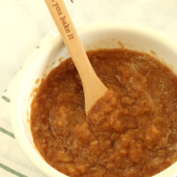 Crock Pot Applesauce in a bowl