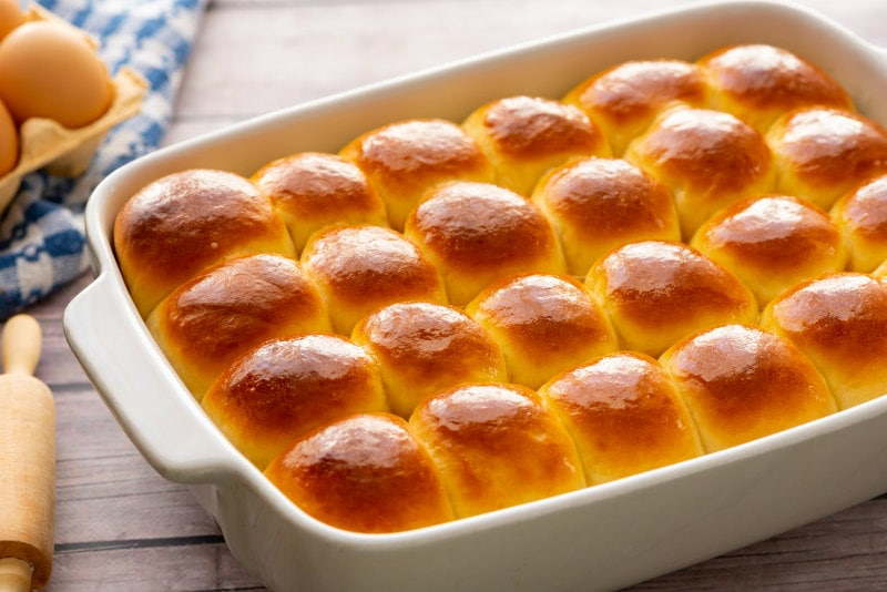 Easy Dinner Rolls just out of the oven