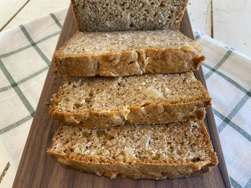 sliced Fresh Apple Bread