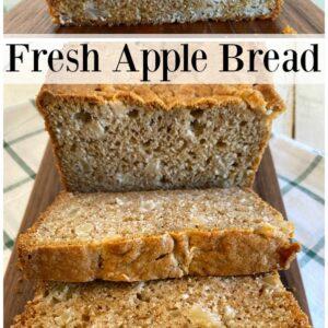 fresh apple bread