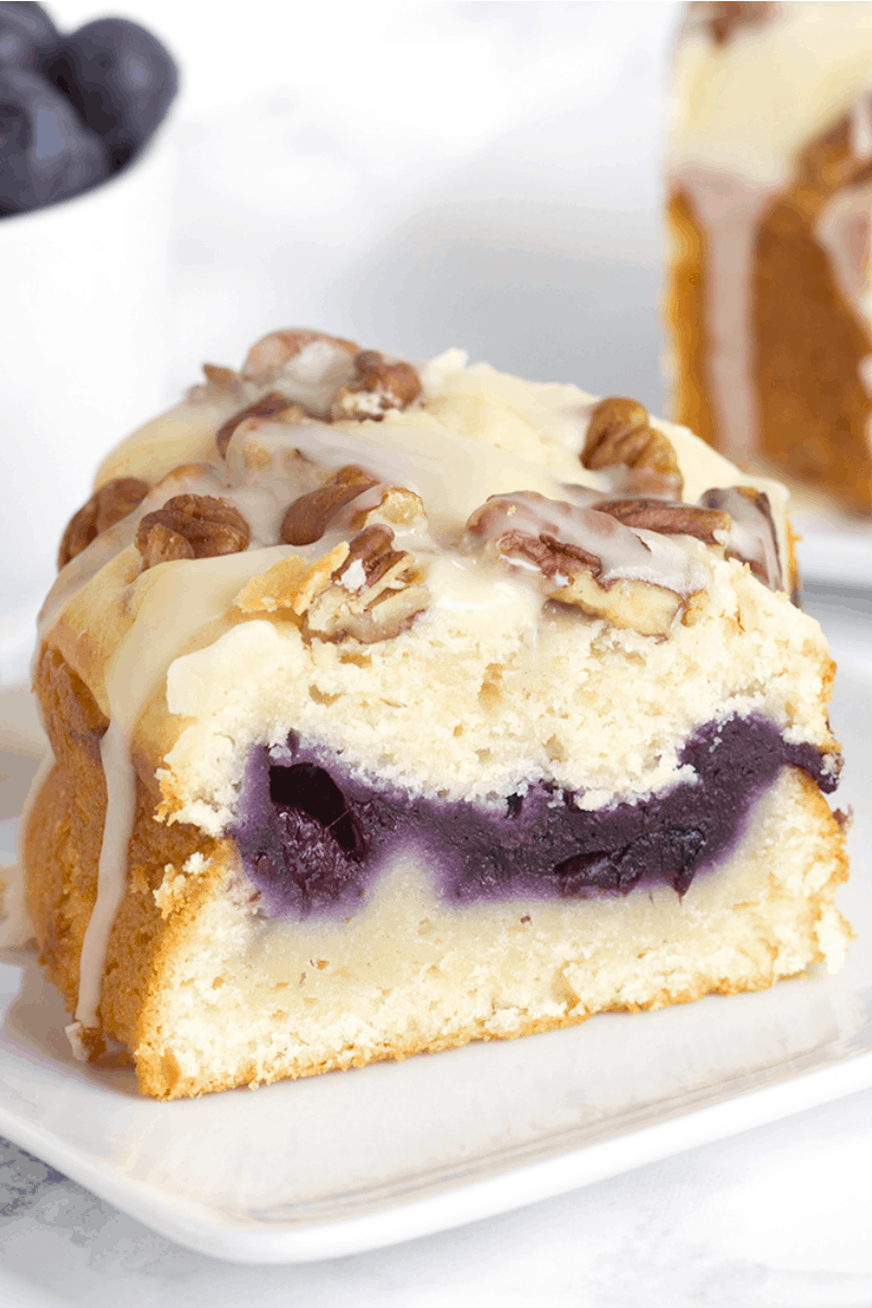 slice of Fresh Blueberry Coffee Cake