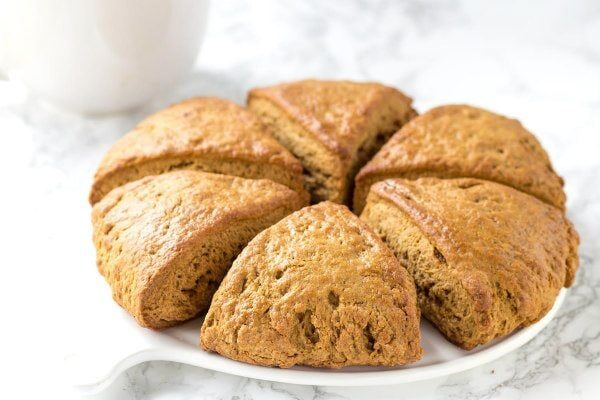 Gingerbread Scones recipe - from RecipeGirl.com