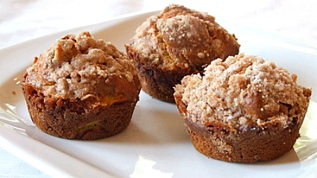 Pumpkin- Apple Streusel Muffins