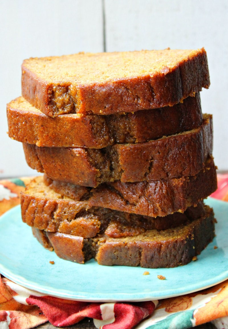 Best Pumpkin Bread Recipe : loaf cut into slices