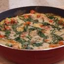 Squash and Tomato oven frittata