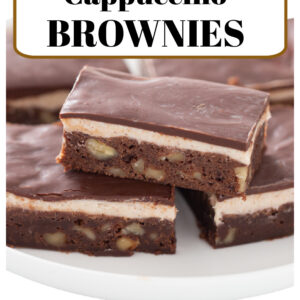 Pinterest image for Cappuccino Brownies