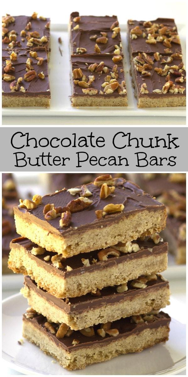 Chocolate Chunk Butter Pecan Bars