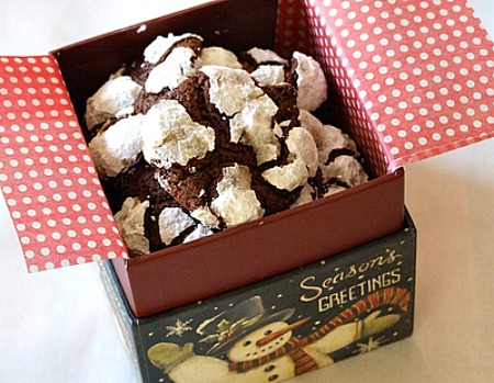 box of chocolate espresso snowcaps