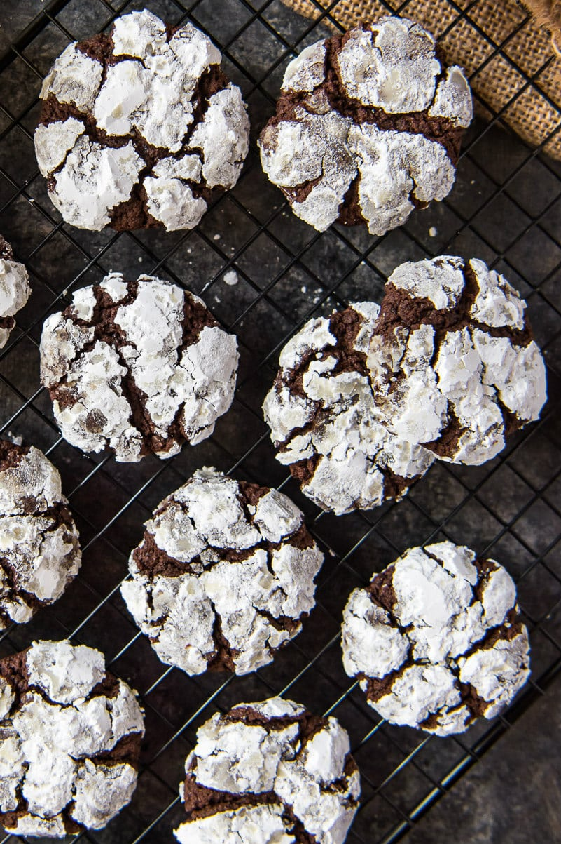 rack of Chocolate Espresso Crinkles