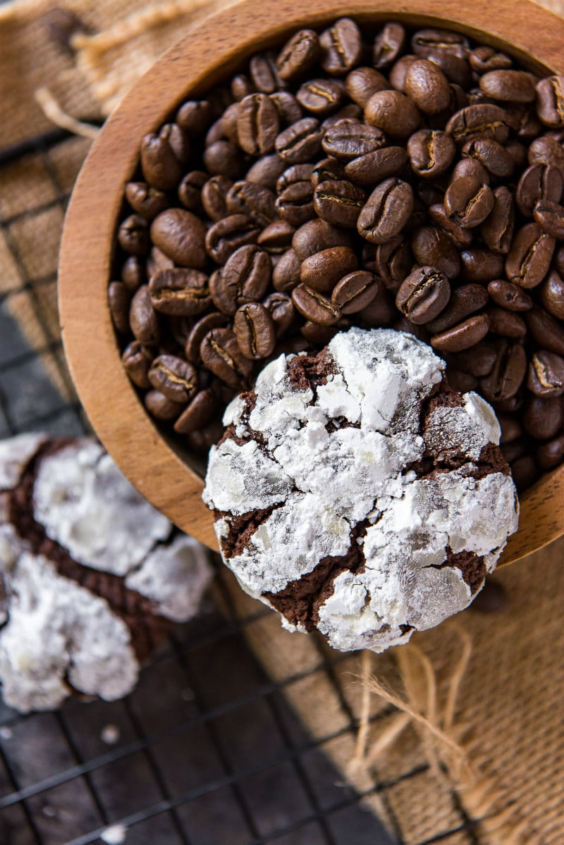 Chocolate Espresso Snowcap Cookie