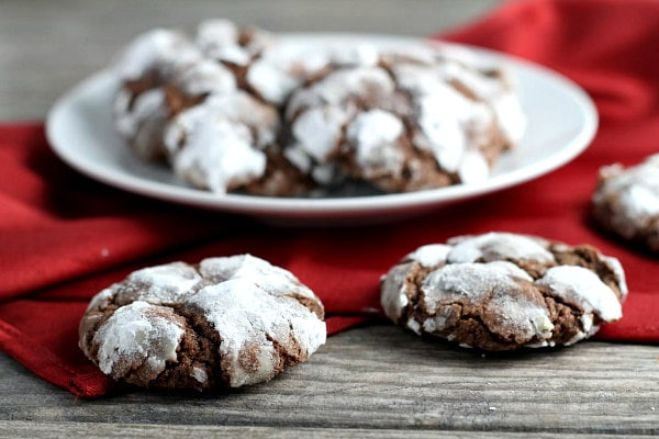 Chocolate Mint Snowtop Cookies