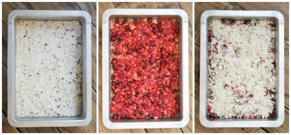 Making Cran Apple Raspberry Bars