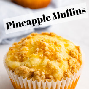 Pinterest image for pineapple muffins