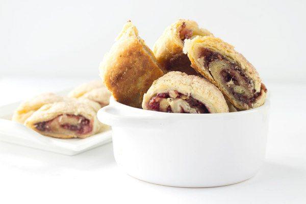 Recipe for Chocolate Raspberry Rugelach - from RecipeGirl.com