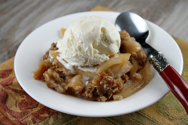 The apple crisp is a topping right?