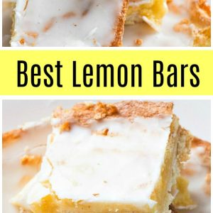 pinterest collage image for best lemon bars