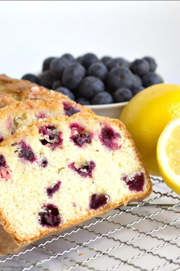 Blueberry Lemon Loaf Cake Recipe - RecipeGirl.com