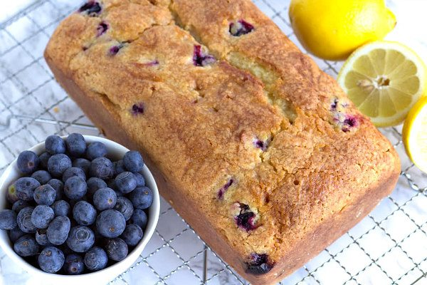 Blueberry Lemon Loaf Cake Recipe