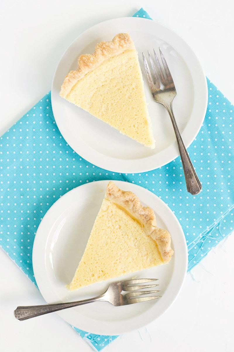 Sliced of Buttermilk Pie
