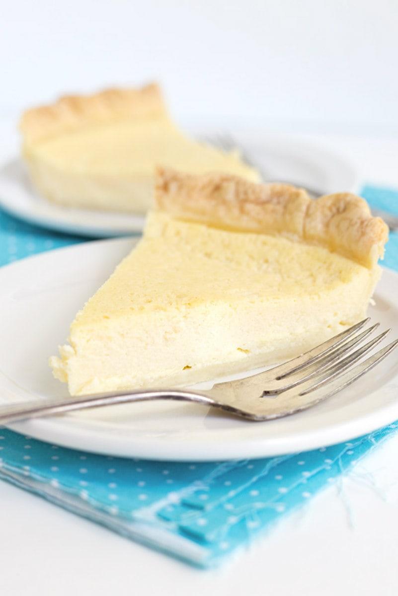 slice of Easy Buttermilk Pie