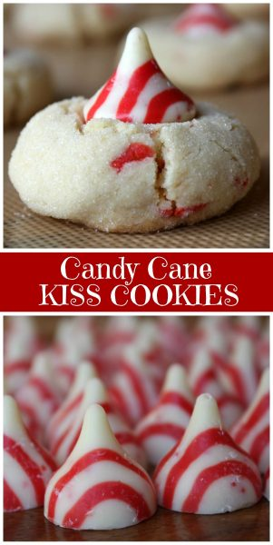 Candy Cane Kiss Cookies Recipe Girl