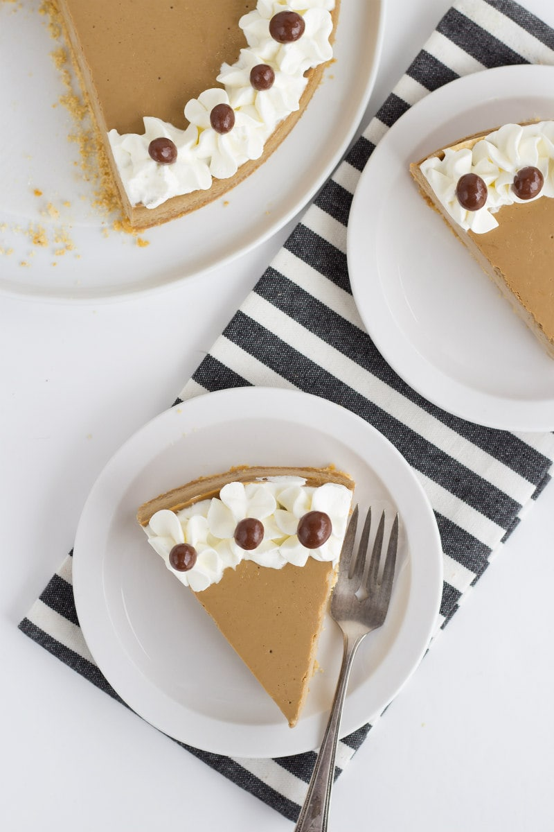slices of cappuccino cheesecake